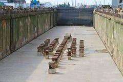 干船坞的准备 免版税库存照片
