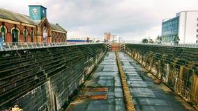 干船坞造船 库存图片