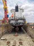 干船坞-小船 库存照片