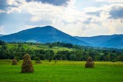 干草堆和教会 免版税库存照片