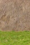 干草堆和草背景 免版税库存图片