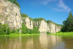 干草河 俄罗斯,南乌拉尔 库存照片