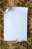 干草纸张 库存图片