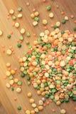 干豌豆的混合 免版税库存照片