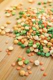 干豌豆的混合 免版税库存图片