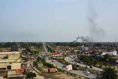 干达人辛哈Wala村庄-卡苏尔县旁遮普邦,巴基斯坦 库存图片