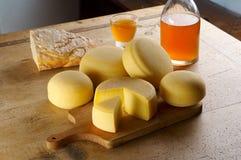 干酪不同的产品 免版税库存图片
