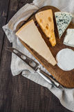 干酪不同的种类 库存照片