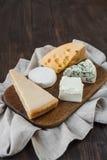 干酪不同的种类 免版税库存图片