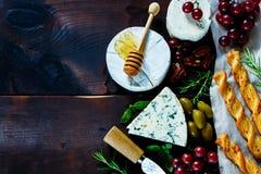 干酪不同的种类 图库摄影