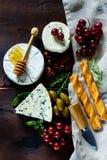 干酪不同的种类 库存图片