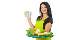 干酪乳酪商低出价 免版税库存图片