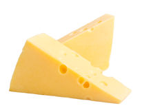 干酪二个块  免版税库存照片