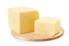 干酪二个部分  免版税库存照片