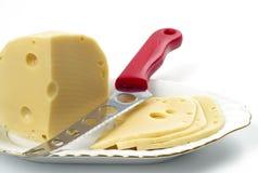 干酪充分的漏洞 免版税库存照片