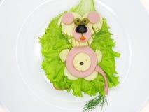 干酪创造性的火腿三明治蔬菜 图库摄影