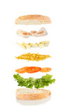 干酪和火腿三明治 图库摄影