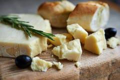 干酪和酒 图库摄影