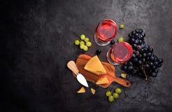 干酪和酒 免版税图库摄影