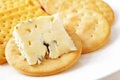 干酪和饼干 库存照片