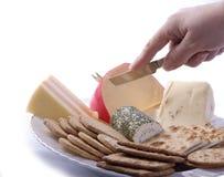 干酪和饼干 免版税库存图片
