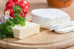 干酪和素食者 免版税库存照片