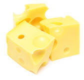 干酪多维数据集 库存照片