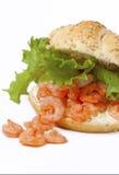 干酪奶油色健康三明治虾 免版税库存照片