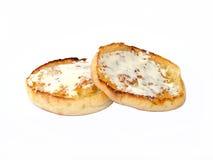干酪奶油色松饼 免版税库存图片