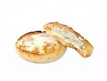 干酪奶油色松饼 库存照片