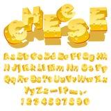 干酪字体 免版税图库摄影
