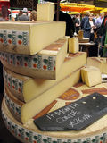 干酪市场 库存图片