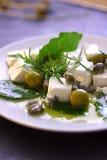 干酪希脂乳油橄榄 免版税图库摄影