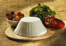 干酪新鲜的意大利ricotta 库存照片