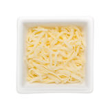 干酪无盐干酪切细了 库存照片