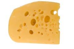 干酪查出的片式黄色 免版税库存图片