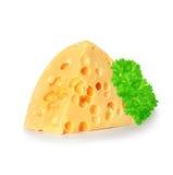 干酪查出的白色 免版税库存照片