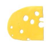 干酪查出的maasdam片式 图库摄影
