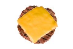 干酪汉堡包小馅饼 库存照片