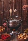 干酪溶化奶油 免版税图库摄影