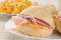 干酪火腿三明治 库存图片
