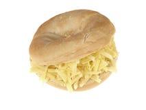 干酪百吉卷 库存照片