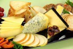 干酪盛肉盘 免版税图库摄影