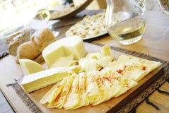 干酪盛肉盘 图库摄影