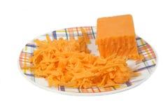 干酪磨碎了 库存照片