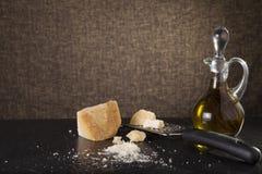 干酪磨碎了 免版税库存照片