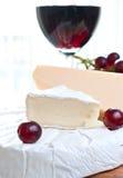 干酪红葡萄酒 免版税库存图片