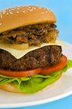 干酪经典汉堡包沙拉蕃茄 免版税库存照片