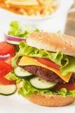 干酪经典汉堡包莴苣蕃茄 库存照片