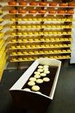 干酪荷兰语荷兰扁圆形干酪 免版税库存图片